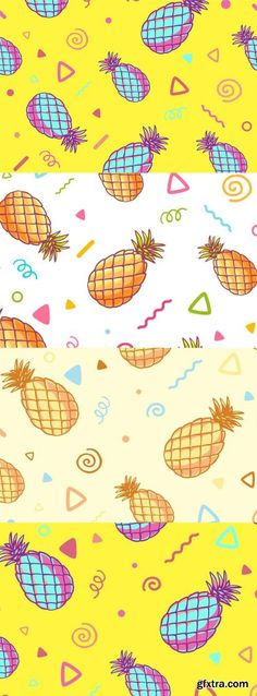 Three Fashionable Patterns With Pineapples