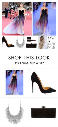 """""""prom"""" by josephine-smith ❤ liked on Polyvore featuring Elie Saab, Christian Louboutin, Lucky Brand, Chanel and Laura Mercier"""