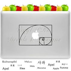 The Golden Ratio Decal for Macbook! #macbook #ipad #iOS8 #iphone #art #design #creativity #2Ddesign #photography #ruleofthirds #painting