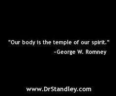 My Body, My Spirit's Temple Quote