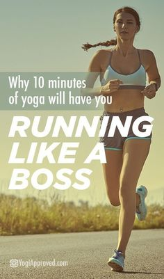 Why All Runners NEED 10 Minutes of Yoga. As the article explains yoga can significantly improve both your flexibility and strength to help prevent injuries due to running. Running Workouts, Running Tips, Cross Training Workouts, Running Routine, Running Form, Running Cross Training, Running Humor, Yoga Workouts, Interval Training