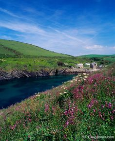 The Inlet from Port Quin Bay to the hamlet of Port Quin on the North Cornwall Coast, England