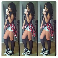 Flannel and converse