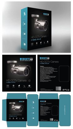 CCTV Camera packing box design on Behance Packing Box Design, Packing Boxes, Web Design Tips, Tool Design, Design Products, Electronics Projects, Consumer Electronics, Electronic Packaging, Smart Home Design