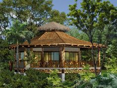 How about modern bamboo house plans? Bamboo is the member with the most varieties within the grass family and has thousands of uses. Bamboo House Bali, Bamboo House Design, Bamboo Tree, Bamboo Building, Natural Building, Bamboo Architecture, Sustainable Architecture, Filipino Architecture, Bungalows