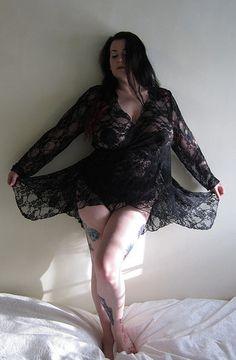 Black Lace Robe by RavenDreams
