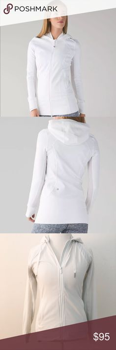 Lululemon Athletica Daily Practice Jacket Sz 4 White Lululemon Athletica Daily Practice Jacket Sz 4  *Worn Once, Like New Condition  No stains, holes, or rips  No Trades! lululemon athletica Tops Sweatshirts & Hoodies