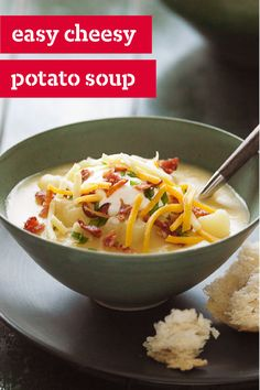 Easy Cheesy Potato Soup – Everyone enjoys cheesy potato soup during cold weather. And if you're the one making it, you'll appreciate that ours is easy to make. Thanks to frozen hash browns and veggies this dish is ready in just 35 minutes.