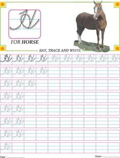 Cursive capital letter H practice worksheet | Download Free Cursive capital letter H practice worksheet for kids | Best Coloring Pages