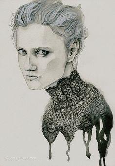 Original Portraits by Anna Danilova #Illustration