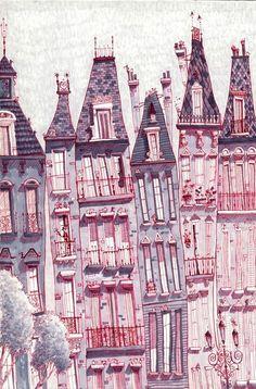 city/ building illustration / Matthew H Sharack: