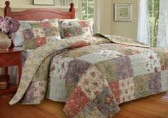 Greenland Home Blooming Prairie King 3-Piece Bedspread Set by Greenland Home. $132.52. Complete Set Including pillow shams (one sham per twin set). 100-Percent easy care cotton. Reversible. Prewashed and preshrunk. 100% Cotton. Blooming Prairie quilted bedspread set spreads a riot of garden colors across your bedroom scene. Quilt and shams reverse to an all-over Jacobean print on a soft yellow ground for a truly versatile bed cover.Reversible. Each set includes one ...