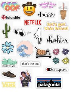 Trendy teen stickers trendy sticker packs basic white teen trendy cute aesthetic teen okurr weird flex but ok howdy oof lulu lemon patagonia vans shister sister netflix clout gang the great wave cactus iced coffee that's the tea champion scrunchi Stickers Cool, Meme Stickers, Tumblr Stickers, Phone Stickers, Printable Stickers, Cute Laptop Stickers, The Office Stickers, How To Make Stickers, Red Bubble Stickers