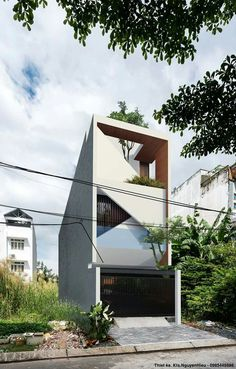 Minimalist Architecture, Facade Architecture, Contemporary Architecture, Villa Design, Facade Design, Exterior Design, Modern Townhouse, Townhouse Designs, House Front Design