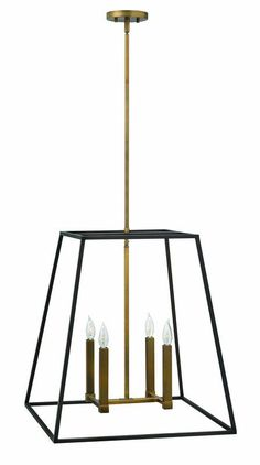 """Buy the Hinkley Lighting 3336BZ Bronze Direct. Shop for the Hinkley Lighting 3336BZ Bronze 4 Light 24.5"""" Height Indoor Lantern Pendant from the Fulton Collection and save."""