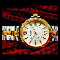 Look sharp with our Gents classic Rotary two tone bracelet watch #Rotary