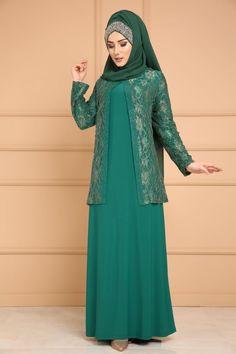 ** YENİ ÜRÜN ** Yelek Görünümlü Abiye Zümrüt Ürün Kodu: SMT3001 --> 179.90 TL Hijab Style Dress, Modest Fashion Hijab, Modern Hijab Fashion, Islamic Fashion, Abaya Fashion, Muslim Fashion, Fashion Dresses, Stylish Dress Book, Stylish Dresses