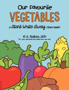 Does your class love writing class books?Have your class write about their favourite vegetables and create a wonderful keepsake for your room.Brainstorm lots of ideas together and allow students to choose their favourites, or have them pick a 'mystery' one out of hat.
