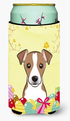Jack Russell Terrier Easter Egg Hunt Tall Boy Beverage Insulator Hugger BB1942TBC