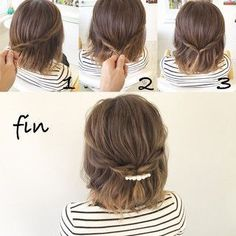 170 Easy Hairstyles Step by Step DIY hair-styling can help you to stand apart fr., 170 Easy Hairstyles Step by Step DIY hair-styling can help you to stand apart from the crowds Are you feeling tired with your reg. Step By Step Hairstyles, Diy Hairstyles, Easy Short Hairstyles, Hairstyle Ideas, How To Style Short Hair, Easy Hairstyles For Short Hair, Style Hair, Wedding Hairstyles, Short Hair Simple Updo