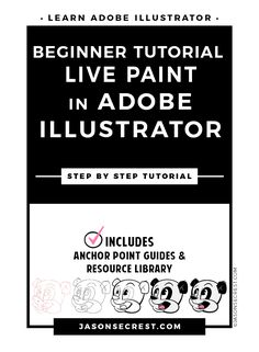 Check out this Adobe Illustrator Tutorial. In this beginner Adobe Illustrator tutorial we will be going through a coloring process using Live Paint to create flat colors to our character. In this easy to follow tutorial we will be going through step by step to build our cartoon character using shapes and the pen tool.