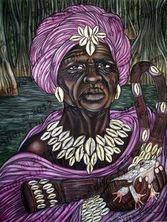Nanã, orixá feminino dos pântanos e da morte. Protege idosos e desabrigados. Também dona da chuva e da lama. É mãe de Obaluaiê e junto com ele, dona das doenças cancerígenas. Mais velha orixá do panteão africano. Nanã Buruku - Nanã Buruquê - linhadasaguas.com.br