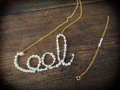"""coole"" Perlenkette und Armband #Armband #cool #DIY #Geschmeide #Kette #Perlen #Perlenarmband #Perlenkette"