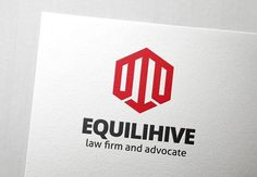 Equilihive Law Logo by Slim Studio on @creativemarket