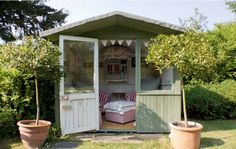 Little Dune Shed via Reader Sheds, The Best She Sheds via A Blissful Nest Shed Of The Year, Custom Sheds, Shed Interior, Gif Disney, Art Deco, Shed Kits, Potting Sheds, Potting Benches, Shabby Chic Interiors