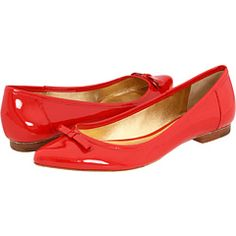 great red shoes.