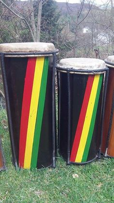 Two Rasta Drums Nyabinghi Drums Kette/Fundeh by RastaCultureShop, $479.99