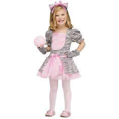 Grey Kitten Halloween Costume for Toddler
