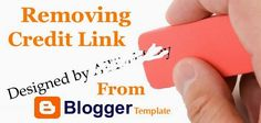 Remove Footer Credit Link from Blogger Template without Redirecting to Any Website - All Tech Way | Best Tips & Tricks.