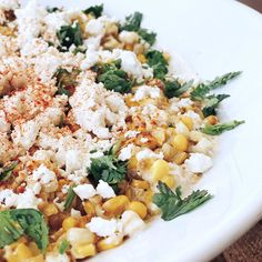 Mexican street corn off the cob. You won't believe how yummy this is!
