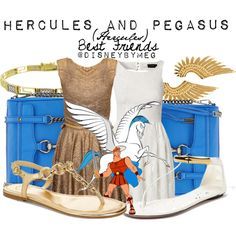 """""""Hercules and Pegasus"""" by merstrawberries on Polyvore"""