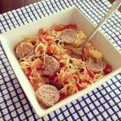 Easy Peasy Tomato Basil Spaghetti Squash