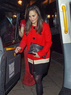 Pippa Middleton spotted leaving the club Lou Lou's in #London on November 1, 2012.