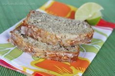 Coconut banana bread with lime glaze  http://www.ourbestbites.com/2010/04/coconut-banana-bread-with-lime-glaze/