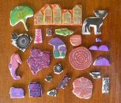 Hand carved stamps by amelia herbertson, via Flickr