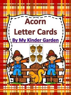 Here is an absolutely adorable set of acorn letters cards that can be used to improve letter recognition and help students to accomplish their common core reading goals. The set includes a page for each uppercase letter, each lowercase letter, and a page with each uppercase letter along with the matching lowercase letter.