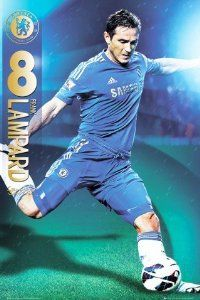 Posters: Soccer Poster - Chelsea FC, Frank Lampard 2012/13 (36 x 24 inches) Framed or unframed From £5.48