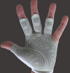 sculler rowing glove - they also have sweep gloves.  Awesome gloves, awesome customer service!  http://thecrewstop.com/