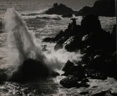 Ansel Adams  -  Surf & Rocks, Timber Cove, CA / Silver Gelatin Print  -  11 x 14