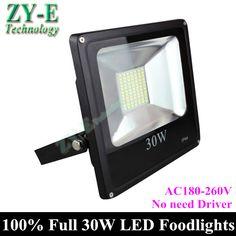 New! LED flood light 30W Black AC180-260V no driver waterproof IP65 5730 SMD Floodlight Spotlight Outdoor Lighting Freeshipping #Affiliate