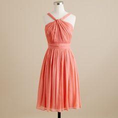 J Crew Sinclair in bright coral (Connie's dress)