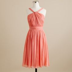 J Crew Sinclair in bright coral (Connie's dress)