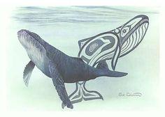 Humpback Whale by Sue Coleman, Canadian Artisr Haida Kunst, Arte Haida, Haida Art, Native Art, Native American Art, American Spirit, Native Indian, First Nations, British Columbia