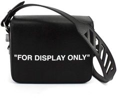 11c52e6c900f Off-White Black Saffiano Leather for Display Only Print Shoulder Bag