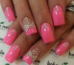 Bow Nail Art - 50+ Cute Bow Nail Designs | Art and Design