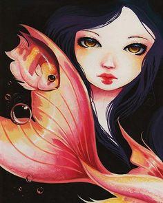 Art 'Dark Haired Beauty' - by Nico Niemi from mermaids
